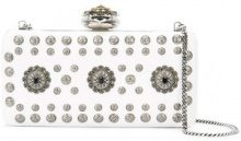 Alexander McQueen - clutch 'Heart Frame' - women - Leather - OS - Bianco