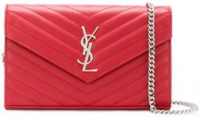 Saint Laurent - Monogram chain wallet - women - Calf Leather - One Size - RED
