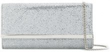 Jimmy Choo - Clutch 'Milla' - women - Leather/PVC - OS - METALLIC
