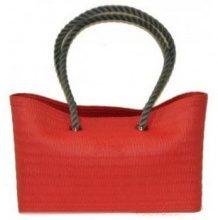 Borsette O Bag  beach borsa mare rossa media con manici in corda