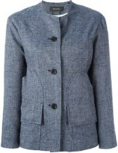 Isabel Marant - Donegal jacket - women - Silk/Linen/Flax/Viscose/Polyester - 42 - BLUE