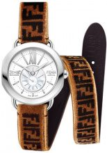 - Fendi - Cinturino 'Selleria Strap You' - women - pelle di vitello/velluto/stainless steel - Taglia Unica - color marrone