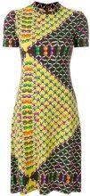 Lanvin Vintage - link print shortsleeved dress - women - Polyester - 42 - MULTICOLOUR