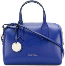 Emporio Armani - charm-detail satchel - women - Polyurethane - OS - BLUE