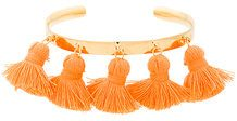 Marte Frisnes - Bracciale rigido 'Raquel' con nappine - women - Cotton/Gold Plated Silver - S, M, L - YELLOW & ORANGE