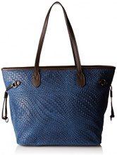 Chicca Borse 80061, Borsa a Spalla Donna, Blu, 46x30x17 cm (W x H x L)