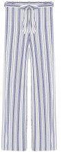 FIND Pantalone Palazzo a Righe Donna , Blu (Blue/white), 46 (Taglia Produttore: Large)