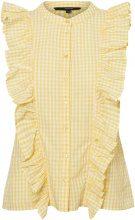 VERO MODA Frills Sleeveless Shirt Women Yellow