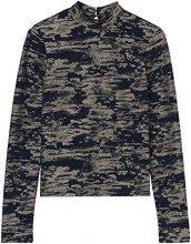 FIND Maglia Camouflage con Collo Alto Donna, Multicolore (Multi), 40 (Taglia Produttore: X-Small)