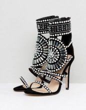 Public Desire - Cleopatra - Sandali con tacco decorati - Nero
