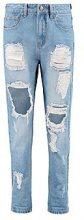 Sophie jeans premaman a vita alta effetto consumato a lavaggio leggero