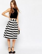 ASOS - Gonna midi elegante a righe