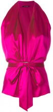 Styland - tie waist blouse - women - Silk - S - PINK & PURPLE