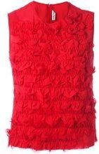 Comme Des Garçons Vintage - ruffle detailed top - women - Cotton - S - RED