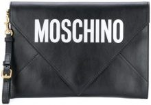 Moschino - Pochette a busta - women - Leather - One Size - BLACK