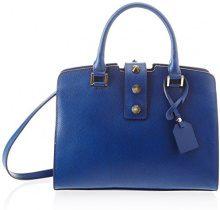 Chicca Borse 8844, Borsa a Spalla Donna, Blu (Blue), 28x22x12 cm (W x H x L)