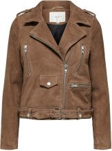 SELECTED Suede - Leather Jacket Women Brown