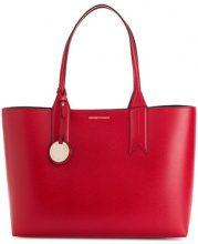 Emporio Armani - charm-detail tote - women - Polyurethane/Polyester - OS - RED