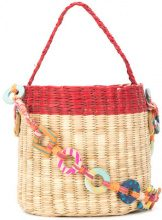 Nannacay - bucket tote - women - Straw - OS - NUDE & NEUTRALS