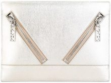 Kenzo - Kalifornia clutch - women - Leather - One Size - METALLIC