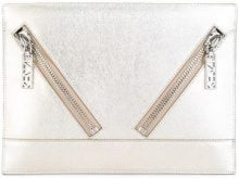 Kenzo - Kalifornia clutch - women - Leather - One Size - Metallizzato