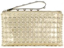 - Red Valentino - Clutch Flower Puzzle RED(V) - women - pelle - Taglia Unica - effetto metallizzato