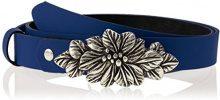 MGM Fiore, Cintura Donna, Blu (Blau 3), Taglia Produttore: 90