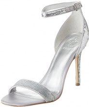 Guess Footwear Dress Sandal, Scarpe con Cinturino alla Caviglia Donna, Argento, 37 EU