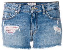 Tommy Hilfiger - Shorts effetto vissuto 'TommyxGigi' - women - Cotton/Spandex/Elastane - 29 - BLUE