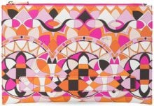 Emilio Pucci - Borsa clutch - women - Cotton/Calf Leather/Polyamide/Viscose - One Size - PINK & PURPLE