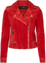 VERO MODA Suede Jacket Women Red