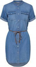 ONLY Short Sleeved Denim Dress Women Blue