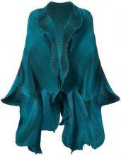 Issey Miyake - frilled shawl jacket - women - Polyurethane - OS - GREEN