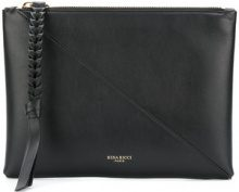 Nina Ricci - zipped clutch - women - Leather - OS - BLACK