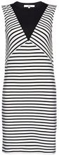 FIND Colour Block Stripe Tunic  Vestito Donna, Nero (Black/white Striped), 50 (Taglia Produttore: XX-Large)