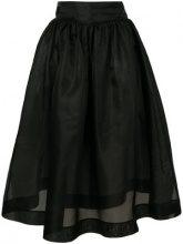 Ganni - Gonna longuette - women - Silk - 42 - BLACK