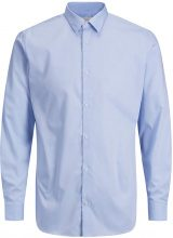 JACK & JONES Non-iron Long Sleeved Shirt Men Blue