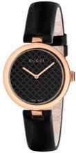 Gucci - Orologio 'Diamantissima' - women - Leather/Gold Plated Brass - OS - BLACK