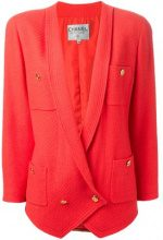 Chanel Vintage - tweed jacket - women - Wool - 40 - RED