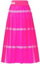 Fendi - flared pleated skirt - women - Polyamide/Polyester - 40 - PINK & PURPLE