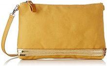 Vanessa Bruno Pochette Epaule Coton Et Paillettes - Borse a tracolla Donna, Giallo (Soleil Brise), 4,5x18x27 cm (W x H L)