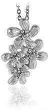 Orphelia dreambase-collana con pendente in argento 925 rodiato con zirconi bianchi - brillante ZH-6026