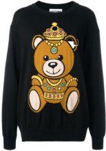 Moschino - bear intarsia jumper - women - Cotton - S - BLACK