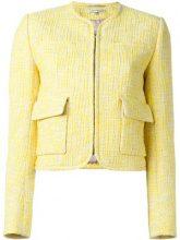Carven - patch pocket tweed jacket - women - Cotton/Polyester/Spandex/Elastane/Acetate - 42 - YELLOW & ORANGE