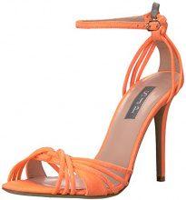 SJP by Sarah Jessica Parker Willow, Sandali con Cinturino Alla Caviglia Donna, Arancione (Creamsicle Orange Suede), 37 EU