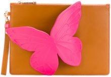 Sophia Webster - Borsa Clutch 'Butterfly' - women - Calf Leather - OS - NUDE & NEUTRALS