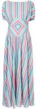 Gül Hürgel - Vestito lungo a righe - women - Linen/Flax/Cotone - S - Multicolore