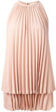 Sara Battaglia - pleated dress - women - Polyester - 42 - PINK & PURPLE