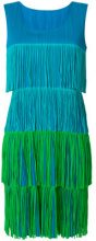 Pleats Please By Issey Miyake Vintage - Vestito a balze - women - Polyester - S - BLUE