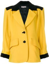 Yves Saint Laurent Vintage - Blazer bicolor - women - Cotton/Wool - 42 - YELLOW & ORANGE